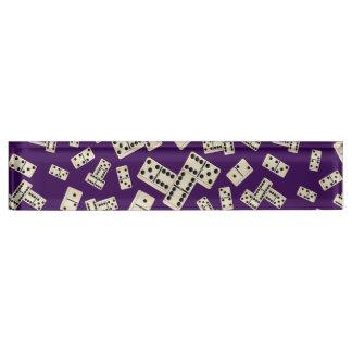 Fun purple domino pattern name plate