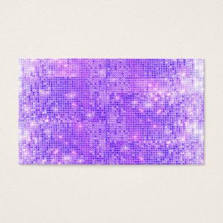 Fun Purple Faux Sparkly Sequins Business Card