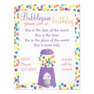 Fun Purple Gumball Machine Invite