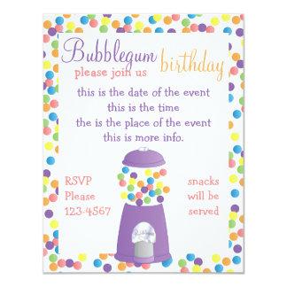 "Fun Purple Gumball Machine 4.25"" X 5.5"" Invitation Card"