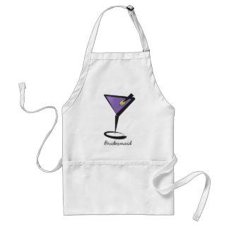 fun purple martini aprons