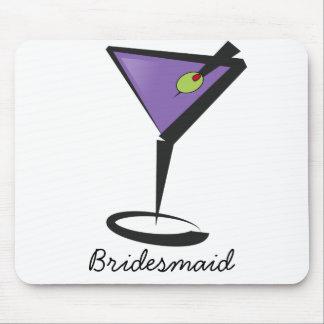 fun purple martini mousepad