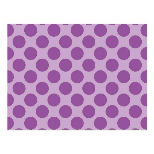 Fun Purple on Purple Polka Dots Patterns Gifts Post Cards