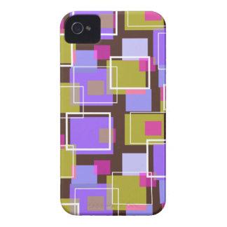 Fun Purple Retro Cubes BlackBerry CaseMate iPhone 4 Cases