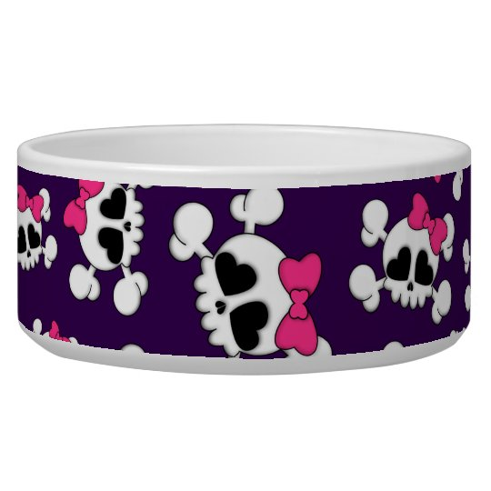 Fun purple skulls and bows pattern