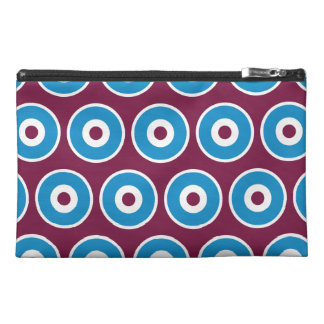 Fun Purple Teal Blue Concentric Circles Pattern Travel Accessories Bag