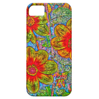 Fun quirky flower designed I phone 5s Barely there Case For The iPhone 5
