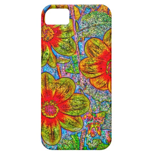 Fun quirky flower designed I phone 5s Barely