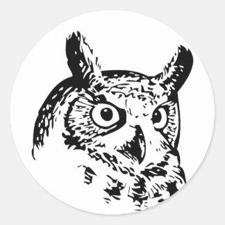 Fun Quirky Owl Sticker