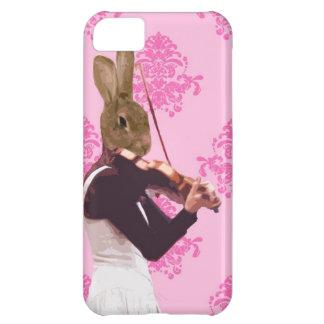 Fun rabbit playing violin iPhone 5C case