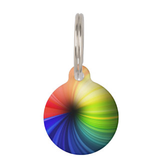 Fun Rainbow Art Pet Tag