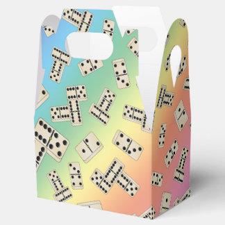 Fun rainbow domino pattern favour box