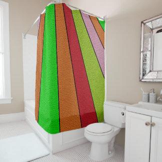 Fun Rainbow Stripes Shower Curtain