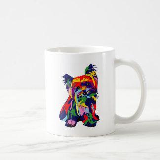 Fun Rainbow Yorkie Coffee Mug