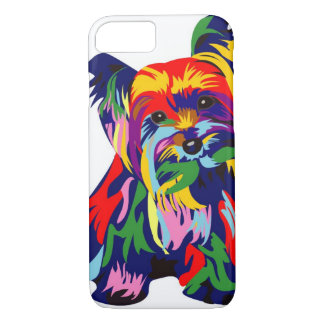 Fun Rainbow Yorkie iPhone 8/7 Case