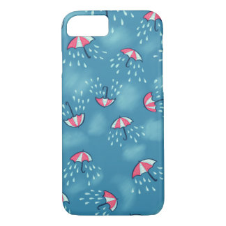 Fun Raining Cartoon Umbrella Pattern iPhone 8/7 Case