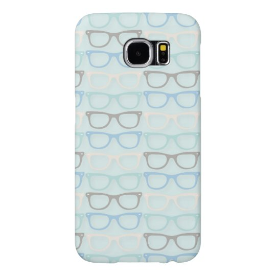 Fun Reading Glasses Pattern on Blue Samsung Galaxy