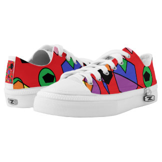 Fun red abstract low tops