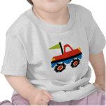 Fun Red Blue Monster Truck Shirts