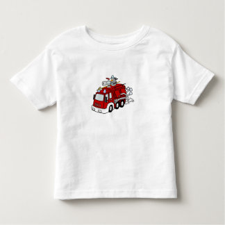 Fun Red Fire Truck Engine & Fireman Tshirts