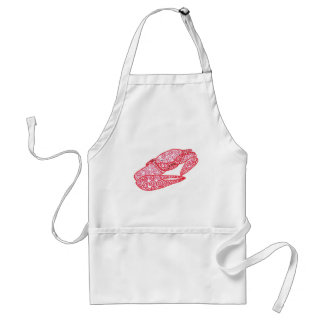 Fun Red Swirls Abstract Crab Aprons