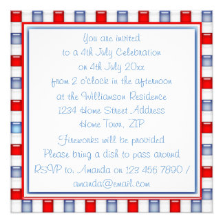 Fun Red White and Blue Patriotic Party Invitation