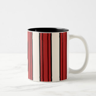 Fun Red & White Bold Stripes Coffee Cup Mug