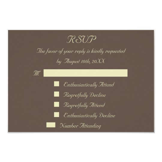 Fun Reply Response Custom Wedding RSVP Invitation