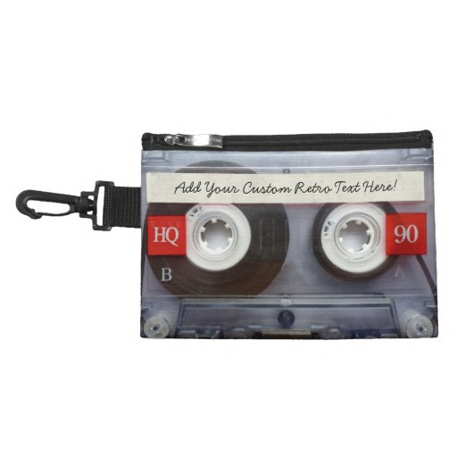 Fun Retro Cassette Tape Accessories Bag