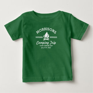 Fun Retro Family Reunion Camping Trip Campfire Baby T-Shirt