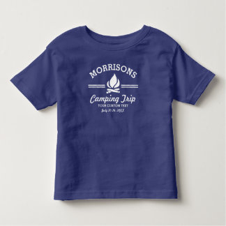 Fun Retro Family Reunion Camping Trip Campfire Toddler T-Shirt