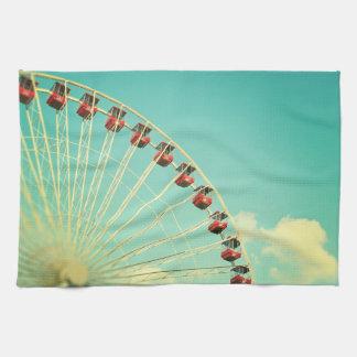 Fun Retro Ferris Wheel Kitchen Towel