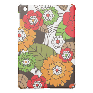 Fun retro floral pattern ipad case