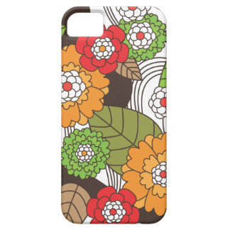 Fun retro floral pattern iphone case barely there iPhone 5 case