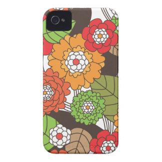 Fun retro floral pattern iphone case