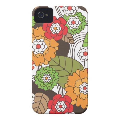 Fun retro floral pattern iphone case Case-Mate iPhone 4 case