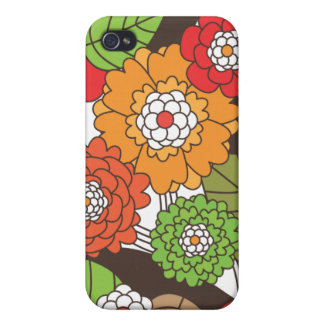 Fun retro floral pattern iphone case iPhone 4/4S covers