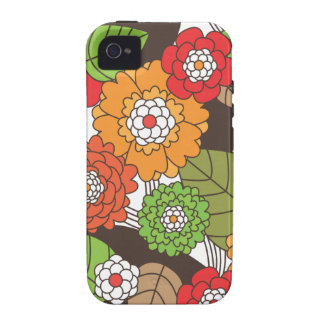 Fun retro floral pattern iphone case iPhone 4 cases