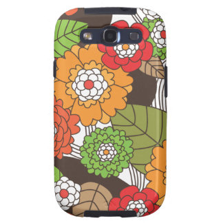 Fun retro floral pattern samsung case samsung galaxy SIII covers