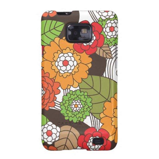 Fun retro floral pattern samsung case samsung galaxy s cases