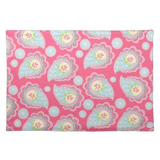 Fun Retro Paisley Cloth Placemat