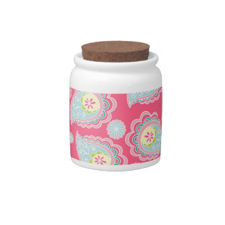 Fun Retro Paisley Candy Dishes