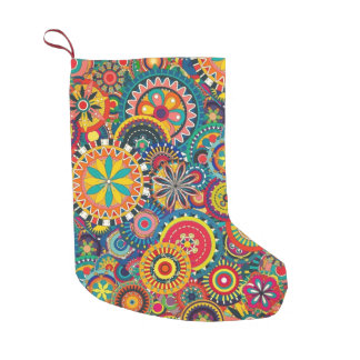Fun Retro Small Christmas Stocking