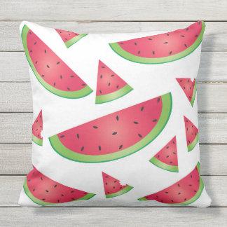 Fun Retro Summer Watermelon Print Outdoor  Pillow