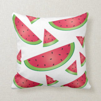Fun Retro Summer Watermelon Print Throw Pillow