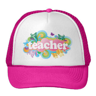 Fun Retro Teacher Trucker Hat