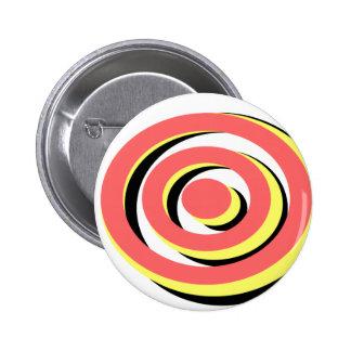 Fun Retro Tri-Color Hypno Design Pins