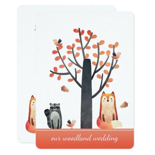 Fun Rustic Woodland Wedding Invitations
