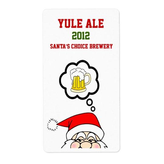 Fun Santa Christmas Custom Beer Labels