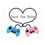 Fun Save the Date for Video Game Players Postcard